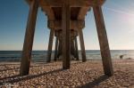 Beach, pier, water, ocean, sand